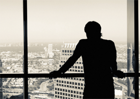 Photo of man looking over skyline