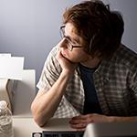 Photo of man facing burnout
