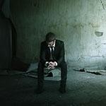 Photo of depressed man